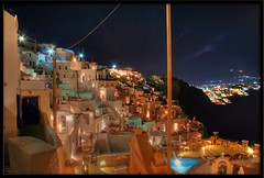 Imerovigli by night (otrocalpe) Tags: night long exposure santorini greece hdr thira imerovigli