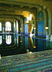 Roman Bath (main pool), Hearst Castle (catface3) Tags: california statepark blue reflection water pool architecture tile gold mosaic turquoise explore sansimeon williamrandolphhearst hearstcastle juliamorgan romanbaths yourbestshot catface3