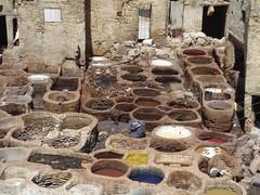 Leather Dye Works, Fez (-gocha-) Tags: africa morocco maroko afryka