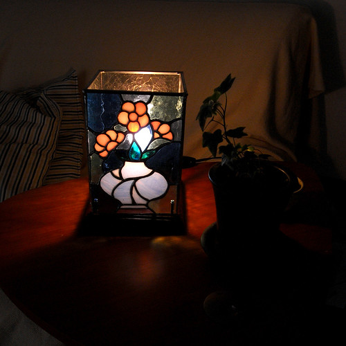 The latest my work --- the light with stained glass