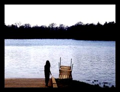 go put your feet in the water (indielove) Tags: summer lake dock sister indiana shining littlesister shakamakstatepark