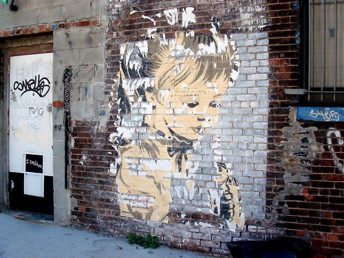 Wall with child's face