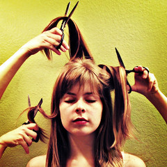 snip (ohkatherine) Tags: woman haircut color green girl wall composition hair colorful hand cut katherine scissors mostinteresting lovelovelove bangs donovan snip gehl cotcmostinteresting abigfave aplusphoto
