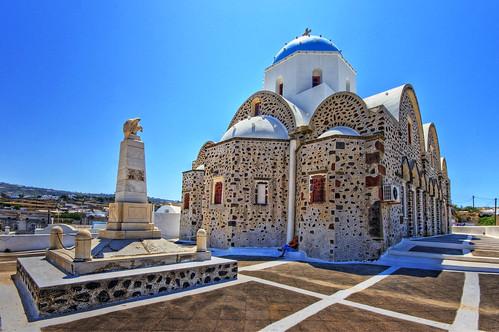 Church, Vothonas, Santorini por Wolfgang Staudt.