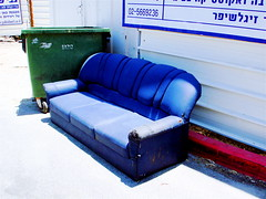Jerusalem June '07 - 48 (ohjaygee) Tags: city urban streets israel jerusalem sofa digi grittiness nonlomo