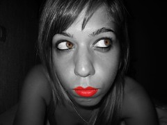 So... WHaT's THe MaTTeR WiTh YoU? (RoOoOo!!!) Tags: city red portrait bw woman selfportrait byn me girl cutout ego myself mujer eyes chica retrato yo lips ojos sin labios autorretrato verdes maquillaje selfego rojos flequillo egofoto desaturado selectivo eyescutouts