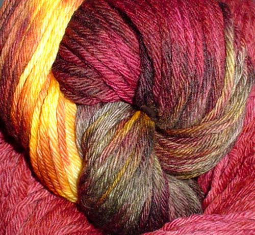 Malabrigo Yarns Burgundy and Loro Barranquero