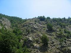 Le versant et la crête des bergeries sans nom