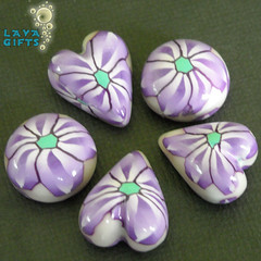 3 Heart 2 Round Purple Daisy Cabochons(1) (Polymer Princess) Tags: usa macro art cane photography lava photo beads nikon heart princess photos shaped designer handmade cab jewelry polymerclay gifts canes round bead handcrafted supplies cabs making polymer cabochon cabochons