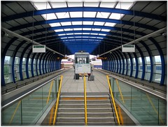 The modern DLR Station @ The London City Airport - from here you can explore the whole capital of the United Kingdom! Welcome and enjoy the magic!:) (|| UggBoyUggGirl || PHOTO || WORLD || TRAVEL ||) Tags: uk travel england people urban station modern train fun airport interesting thankyou unitedkingdom go great grand explore more ourworld canarywharf urbandesign londoncity eastenders eastend stations stops sense westferry lightrailway sensi docklandslightrailway moderndesign sensibility moderncity lcy urbanchic londoncityairportstation urbanlove irishlove irishpride ourstyle happy2010 meaninful irishluck wonderfulviews westferrystation lovetotravel financialhub capitalofengland directaccess smilesahead capitaloftheuk ourdublin travelaroundtheworldforever only5minstopfromthefourseasonshotel loveworldtravel