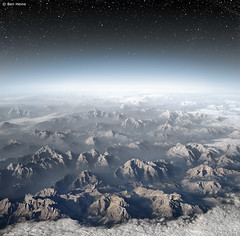 Planet Earth (Ben Heine) Tags: sky moon mountain snow ski alps cold art nature beautiful fog clouds alpes lune stars lands