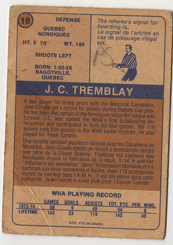 JC Tremblay back