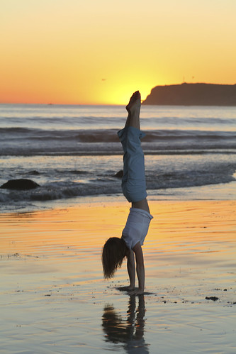 April's beachy handstand