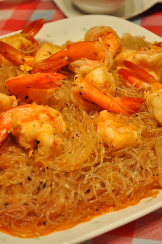 vermicilli with prawns