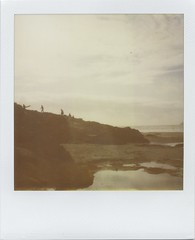 polabeach (Lizzie Staley) Tags: sea summer beach polaroid sx70 sand surf surfer expired rockpool polzeath 779 roidweek2010fall