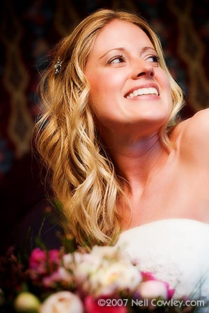 Smiling bridal portrait