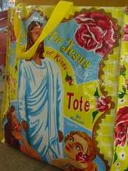 Jesus Tote at the Shreveport Farmer's Market