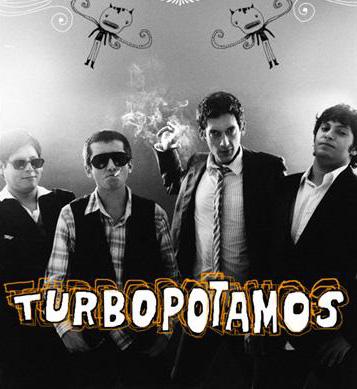 foto da banda peruana turbopótamos, que canta a música No love