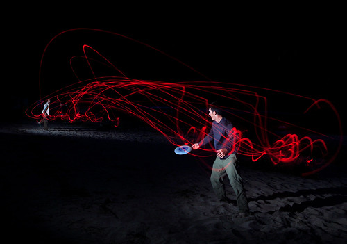 Selway River Idaho - Night Frisbee on the Beach