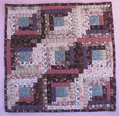 Mini Log Cabin Finished (WendysKnitch) Tags: quilt handmade sewing logcabin dollquilt miniquilt handquilting