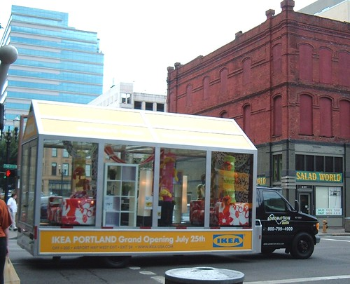Promo truck for the IKEA store opening this month in Portland, Oregon