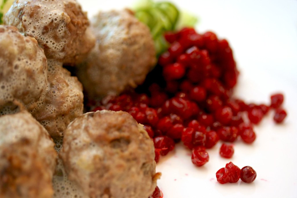 Swedish Meatballs - Ligonberries in view