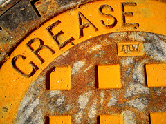 ...is the word. (Esther17) Tags: yellow grit rust dirt cover yella greasetrap
