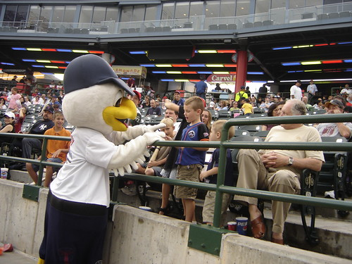 Sandy Seagull at the Cyclones Game