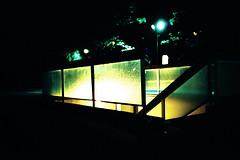 illuminated staircase (sciencesque) Tags: london film night lomo lca xpro crossprocessed lowlight kodak staircase e100vs