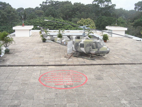 Red marks the spot where the bomb landed