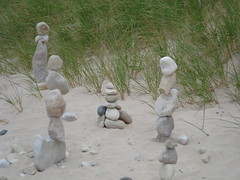 The Ladies (farlane) Tags: sculpture art beach rock found sand gallery michigan lakemichigan frankfort benzie frankfortrockgallery