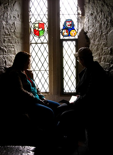 Byron and Rowena in Bunratty Castle