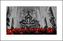 St Paulus Church Antwerp 3 (antwerpalan) Tags: red art aj europe icons belgium religion churches delicious duotone antwerp belgica antwerpen amberes anvers redandblack googleimages bichromie visiongroup antwerpalan alandean photosbyalandean photosbyantwerpalan