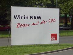 Plakat: Wir in NRW - Besser mit der SPD