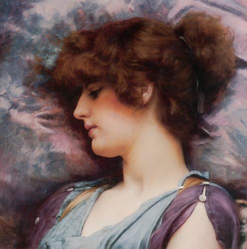 John William Godward, Far Away Thoughts, 1892 by Gatochy.