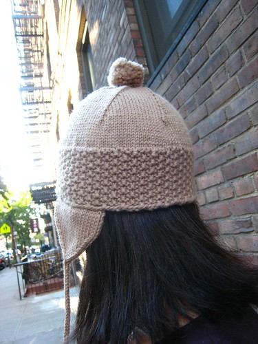 roman earflap hat - back