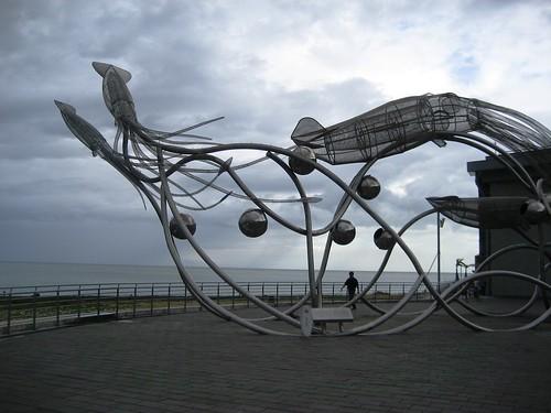 Giant Squid Sculpture