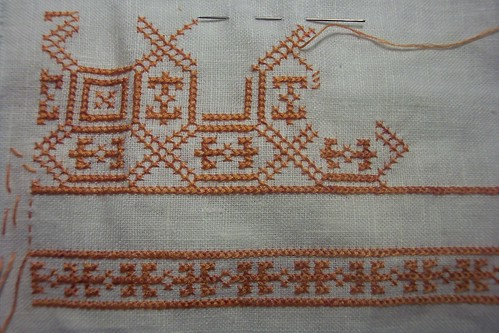 2nd Row of Apron Embroidery