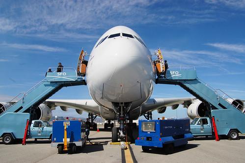 Airbus A380 at SFO