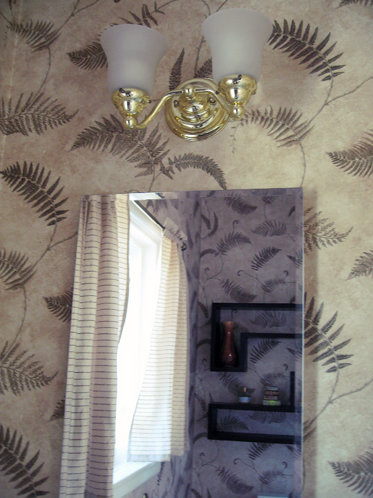 guest bathroom+fern wallpaper+before -5