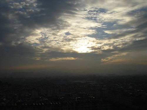 Sunrise over Kunming