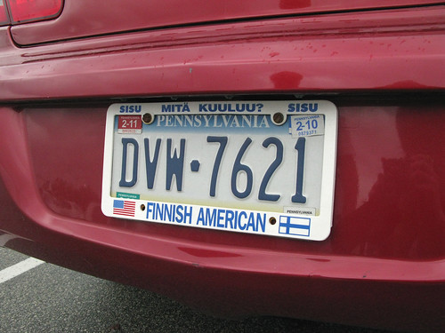 Marilyn's licence plate