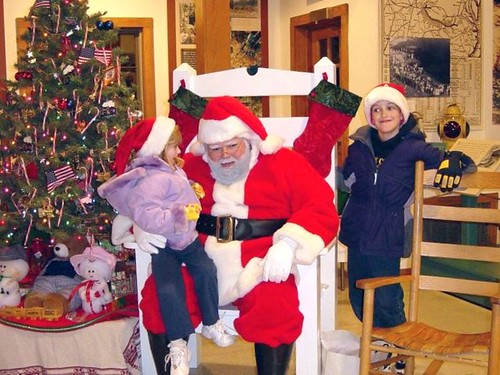 Kids of all ages love to see Santa at Natural Tunnel State Park