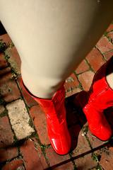 Down my thigh (Christie Jane) Tags: red tv boots cd crossdressing tgirl transgender tranny transvestite crossdresser crossdress gurl tg redboots trannie gogoboots xdressing tallboots xdress tgurl calfboots redgogoboots xdressresser