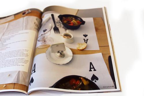 Jasskarten Tischset aus frisch gekocht