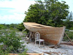 Native boat building project