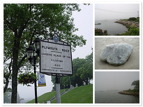 Foggy day at Plymouth rock