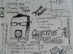 Jon Hicks sketches (Martin Kliehm) Tags: london sketches jonhicks hicksdesign atmedia atmedia2007 creativesponge atmedia07 upcoming:event=110091 chantalslagmolen ltw2007atmediawrapup