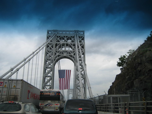 Flag on George Washington Bridge