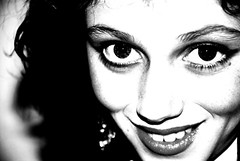 Beautiful in my eyes (Earlette) Tags: portrait bw beautiful photoshop eyes nikon child daughter ashleigh d80 earlette